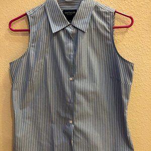 Ann Taylor sleeveless pin striped blouse